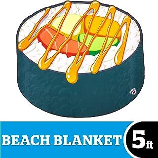 BigMouth Inc  Oversized Beach Blanket, Ulta-Soft Microfiber Towel, 5 Feet Wide, Washing Machine Friendly