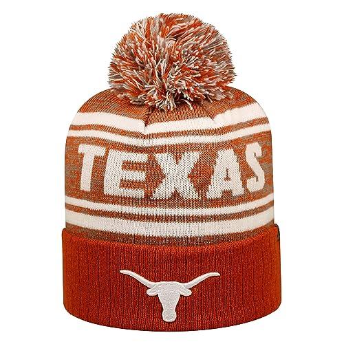 super popular ae5d4 6123e Texas Longhorns Driven Cuffed Pom Knit Beanie Hat   Cap