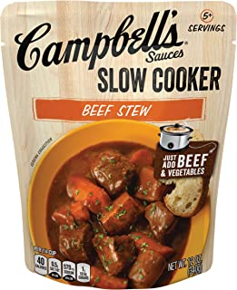 Campbell'sSlow Cooker Sauces Beef Stew, 12 oz. Pouch (Pack of 6)