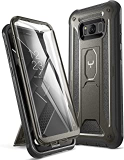 YOUMAKER Kickstand Case for Galaxy S8 Plus, Full Body with Built-in Screen Protector Heavy Duty Protection Shockproof Rugged Cover for Samsung Galaxy S8 Plus (2017) 6.2 inch - Gun Metal/Black