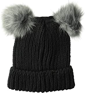 D&Y Women's David & Young Double Pom Beanie with Cuff