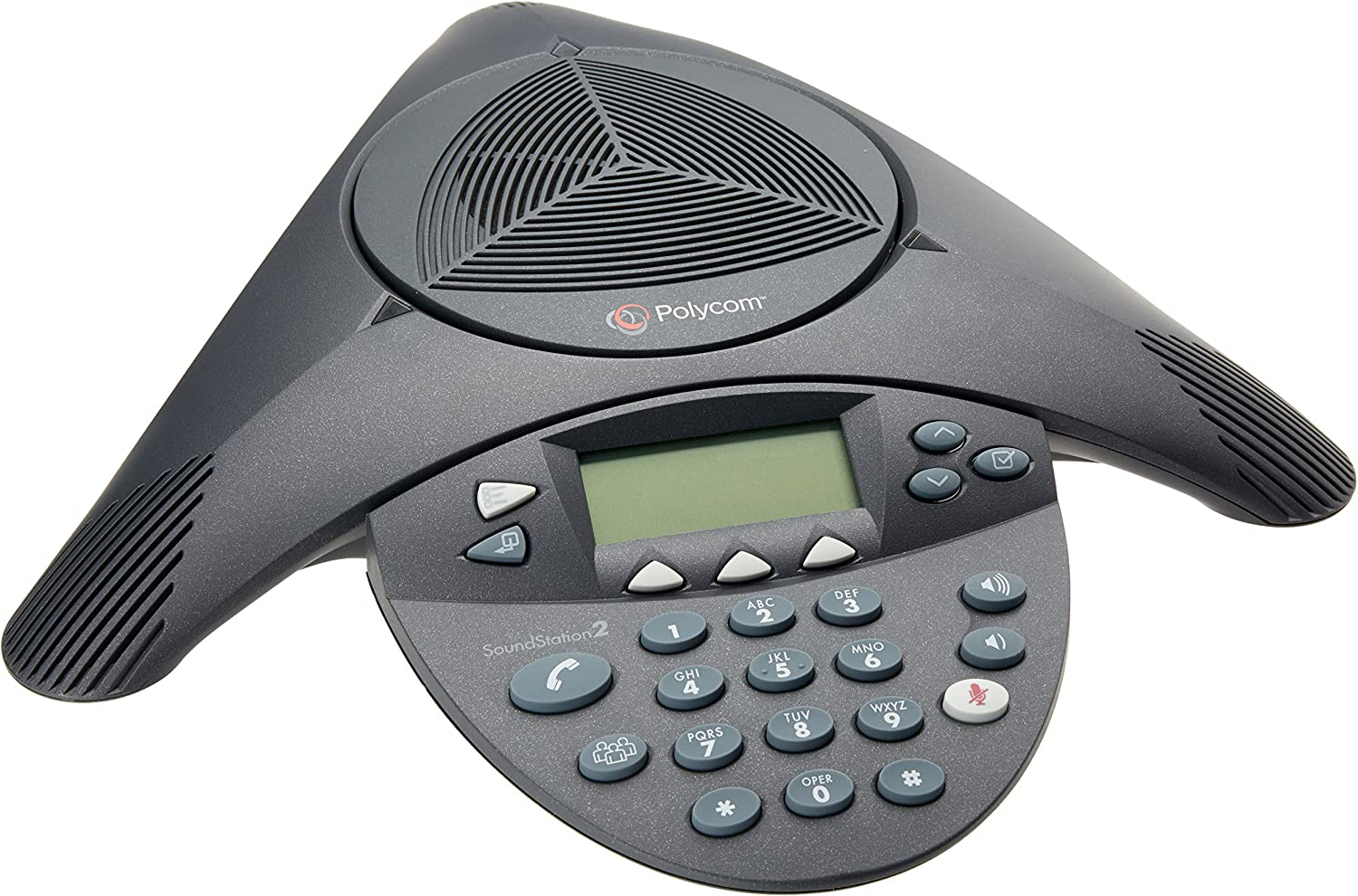 Polycom SoundStation2 Expandable Conference Phone (2200-16200-001) (Renewed) : Office Products
