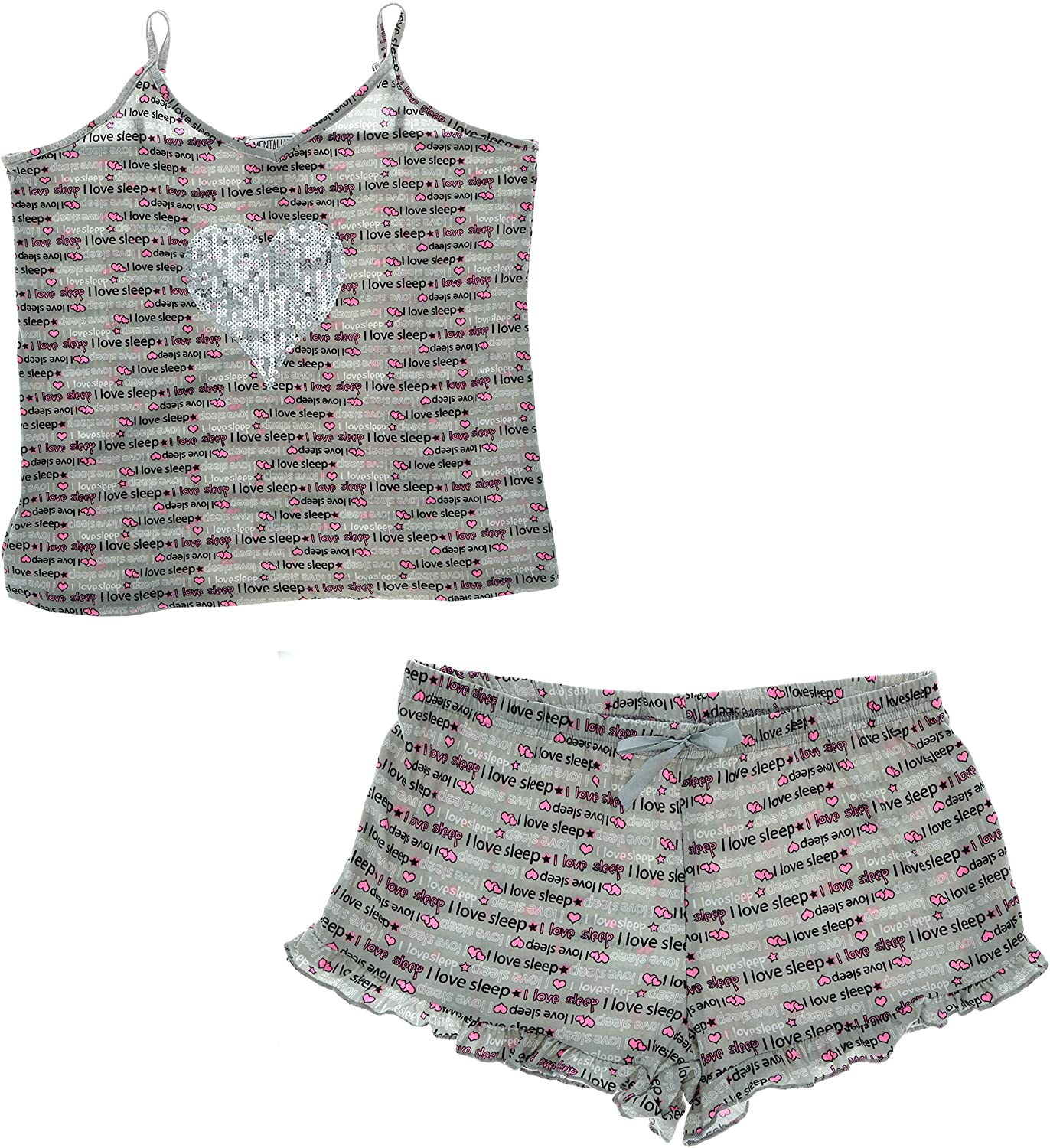 Mentally Exhusted Women's Plus Size Sexy Pajama Set, Tank Top and Shorts