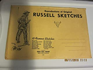 REPRODUCTIONS OF ORIGINAL RUSSELL SKETCHES, 15 SKETCHES