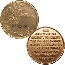 HPRS Personalized Custom Engraved - Serenity Lake Scenery - Bronze AA (Alcoholics Anonymous)-ACA-AL-ANON-Sober-Sobriety-Birthday-Anniversary-Recovery-Medallion