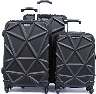 PARAJOHN Matrix 3-Piece Hard Trolley Luggage Set Black