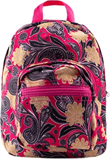 Mini Backpack - Paisley - Pink and Yellow