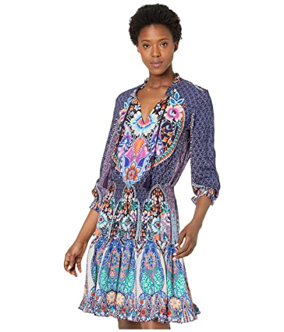 Johnny Was Saba Long Sleeve Cover-Up (Multi) Women