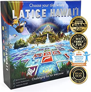 (Hawaii (new edition)) - Latice Hawaii Strategy Board Game - The Award-Winning Smart New Kickstarter Game for Adults and K...