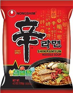 Nongshim Korean Famous Ramen Variety Selection (농심 라면) (Shin Ramen, 4 Pack)
