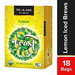 TE-A-ME Ice Brews Cold Brew Ice Tea, Lemon, 18 Pyramid Tea Bags