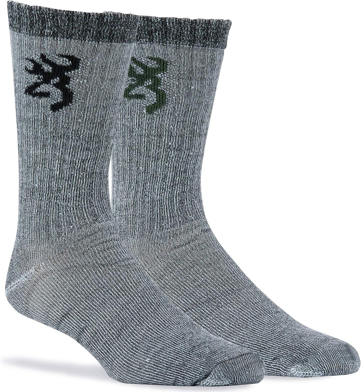 Browning Everyday Wool Socks Olive/Black 2 PK. Black