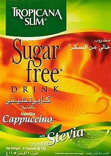 Tropicana Slim Sugar Free Vanilla Cappuccino Drink with Stevia - 96 gm