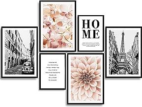 MONOKO® Woonkamer Poster Set - Premium Afbeeldingen Set voor slaapkamers - Stijlvolle Muurschilderingen - Set van 6 zonder...