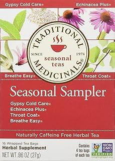 Traditional Medicinals Seasonal Herb Tea Sampler, 16 Count (Pack of 6)
