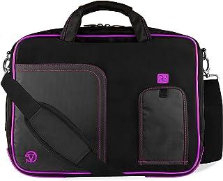 Laptop Messenger Bag 17.3 inch for Dell Alienware m17 R2, G3 G7, Inspiron, Precision 17 inch Purple Trim