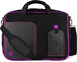 VanGoddy Plum Purple Laptop Messenger Bag for Fujitsu LifeBook and Stylistic Series 12.5