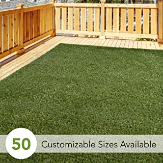 iCustomRug Thick Turf Rugs and Runners 5' X 7' Pet Friendly Artificial Grass Shag | Available in 48 Different Sizes with Binding Tape Finished Edges
