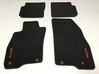 50547311 Original Velours Teppich Fußmatten mit roter Aufschrift 2 + 2 Pins
