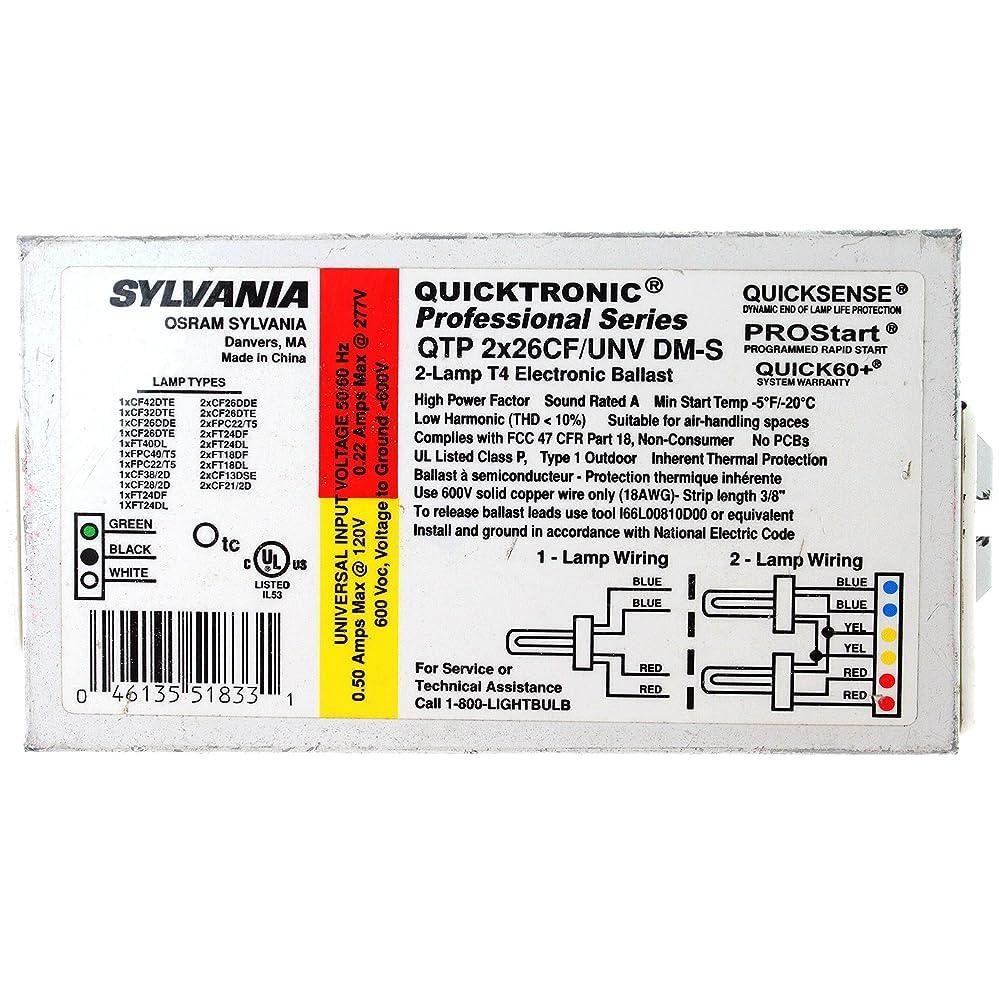 開業医ソブリケット残り物OSRAM SYLVANIA Sylvania Compact Fluorescent Ballast with Bottom Or Side Leads Qtp/2X26/Cf/Unv-645613 [並行輸入品]
