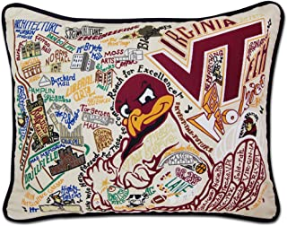 catstudio Virginia Tech Collegiate Embroidered Decorative Throw Pillow | Beautiful Award Winning Home Decor Artwork | Great for The Living, Family, Bed Rooms