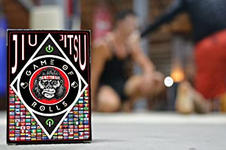 GAME of ROLLS - Brazilian Jiu Jitsu (BJJ) entertainment, grappling game and training aid + Traditional deck of playing cards (2 in 1)