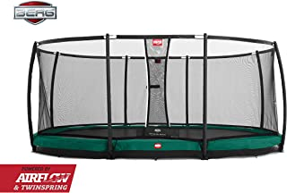 Berg Grand Champion 17 Foot Oval IN-GROUND Trampoline Deluxe Safety NET