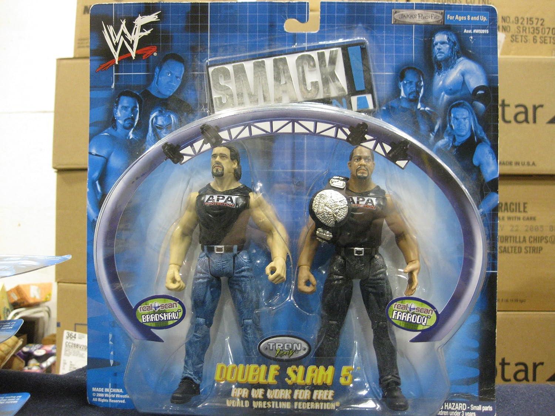 Jakks Pacific WWF Smack Down Double Slam 5 Bradshaw & Faarooq Figure Set