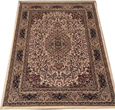 Ali Carpet High Quality Pile Gives These Carpets Persian Design Traditional Carpet for Living Room & Bedroom Floor & Hall 6 X 9 Feet Ivory & Multi Color