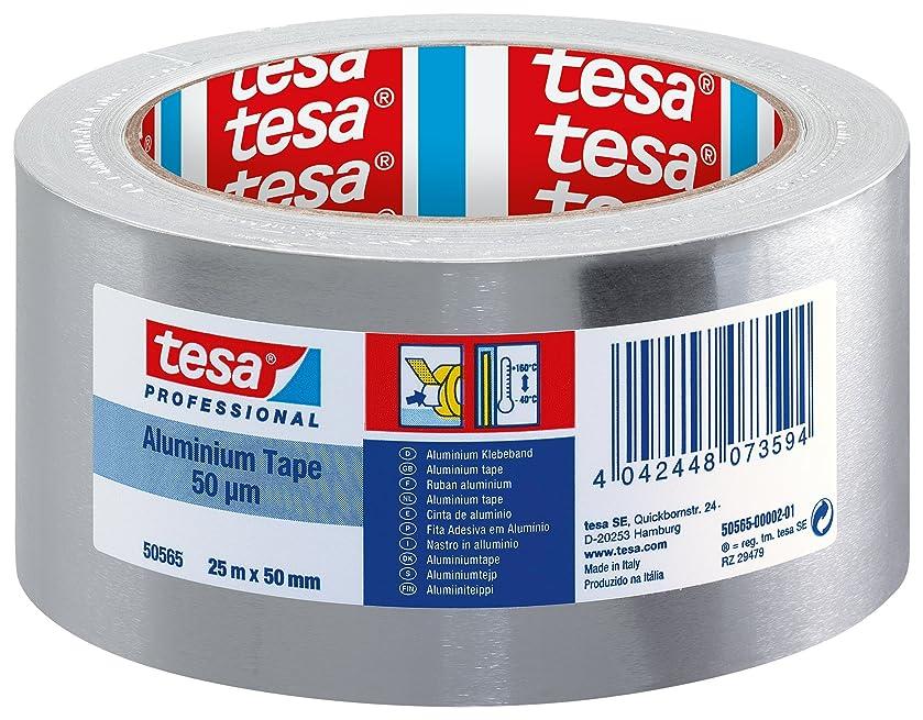 tesa 50565 Aluminium Foil Tape, 50 mm x 25 m