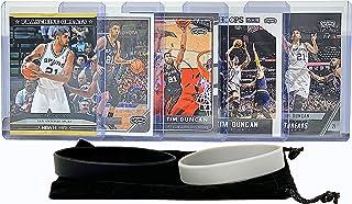 Tim Duncan Basketball Cards Assorted (5) Bundle - San Antonio Spurs Trading Card Gift Pack