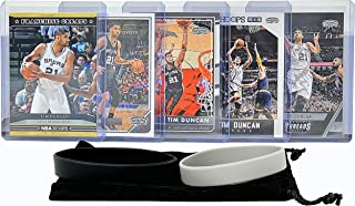 Tim Duncan Basketball Cards Assorted (5) Bundle - San Antonio Spurs Trading Card Gift Pack