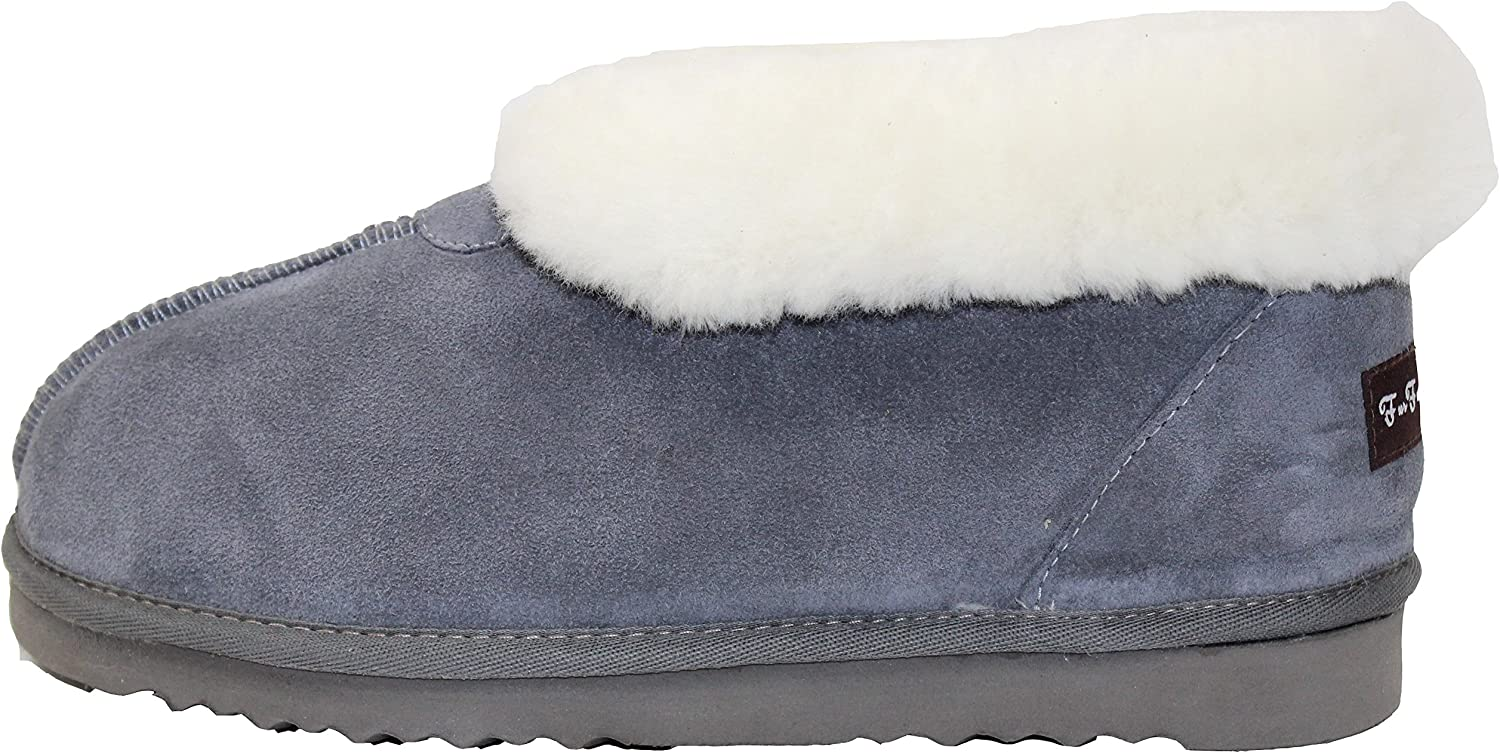 Furfurmouton Women's Slippers Booties Australian Sheepskin E809