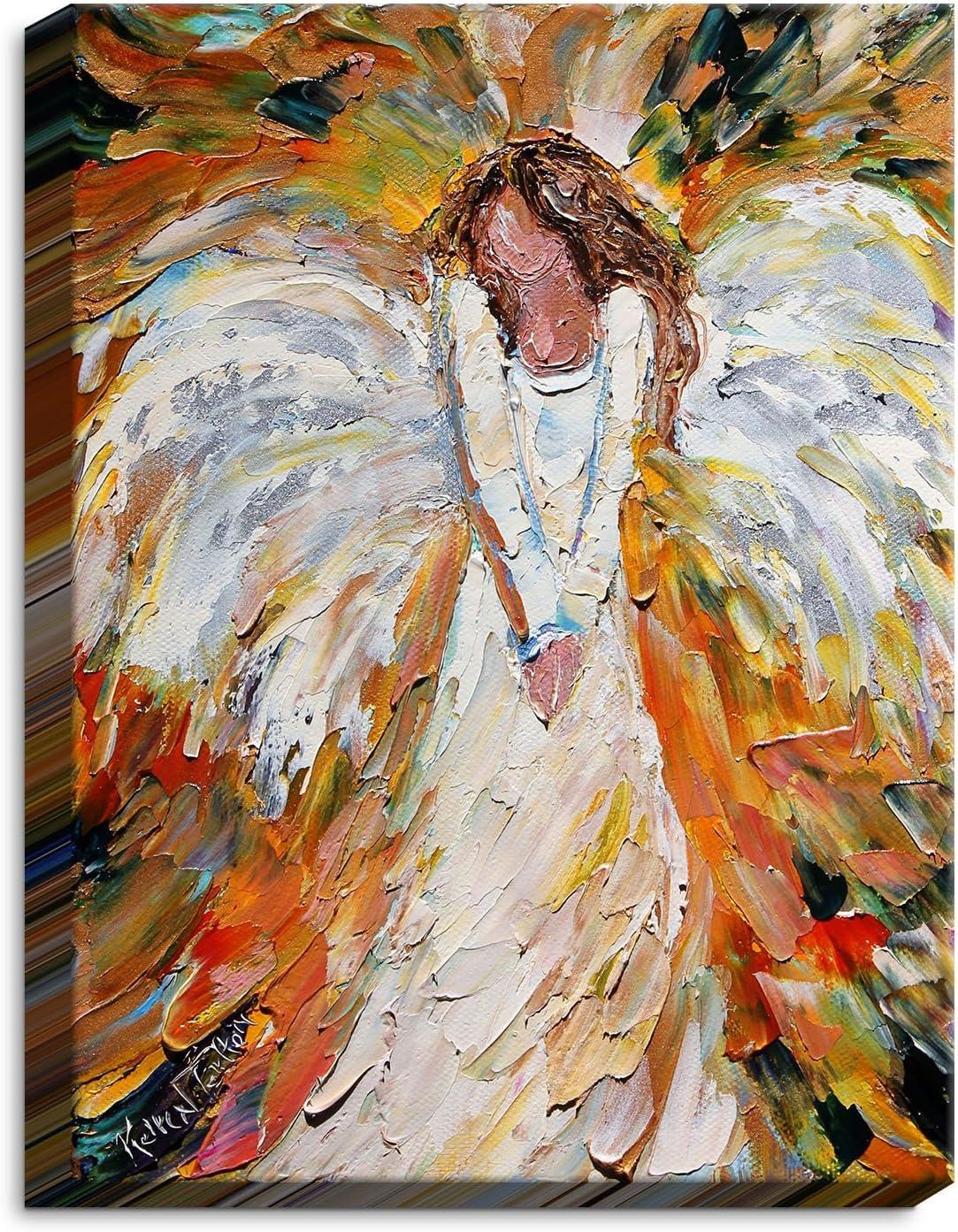 Dia Noche CAN-KarenTarltonAutumnAngel3 Canvas Art Wall New product!! an Jacksonville Mall Framed