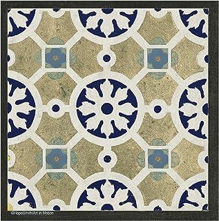 Thirstystone Stone Drink Coaster Set World Indigo Tiles, , Multicolored