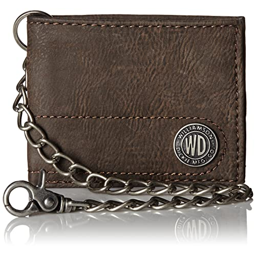 79717f44b22e Dickies Mens Wallet with Chain - Leather Security Bifold Truckers Classic  Slim Thin Single Fold with