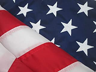 American Flag Tough Durable SOLARMAX Nylon 100% Made in U.S.A. Fade Resistant All Weather Long USA Flag (3' by 5' Foot)
