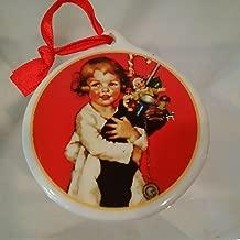Ellen Pyle Merry Christmas Ornament, Norman Rockwell Style Ornament