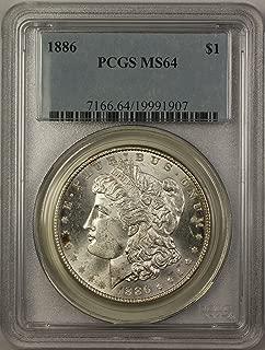 1886 Morgan Silver Dollar Coin (ABR5-A) $1 MS-64 PCGS