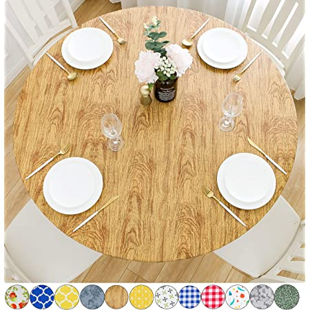Dining Table Cover Elastic Edged Tablecloth Round PROTECTOR ECO-FRIENDLY