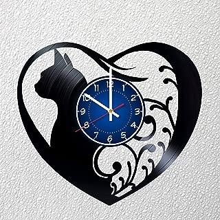 I LOVE CATS Art 12 inches / 30 cm Vinyl Record Wall Clock | CATS Fan Gift | CATS Clock | Children's Room Decor Idea | CAT Home Art Party KITTY Movie art | CHRISTMAS | CAT LOVER