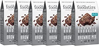 Foodstirs Organic, Non GMO Brooklyn Salted Chocolate Chip Brownie Mix, 17.9 Ounce (Pack of 6)
