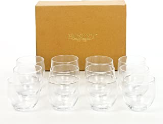 Hosley Set of 12 Clear Glass Tea Light Holders - 2.5