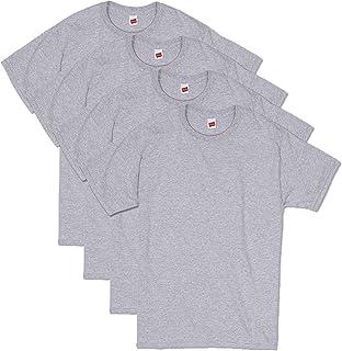 Hanes メンズ コンフォートソフト 半袖Tシャツ (4枚パック) US サイズ: Large カラー: グレー