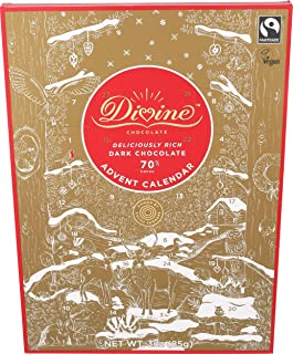 Divine Chocolate, Chocolate Dark Advent Calendar, 3 Ounce