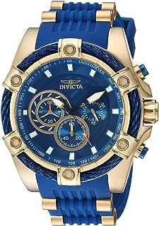 ساعة انفيكتا للرجال بولت ستانلس ستيل كوارتز مع حزام من السيليكون، ازرق، 26 موديل 25527