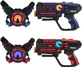 ArmoGear Infrared Laser Tag Guns and Vests - Laser Battle Game Pack Set of 2 - Infrared 0.9mW