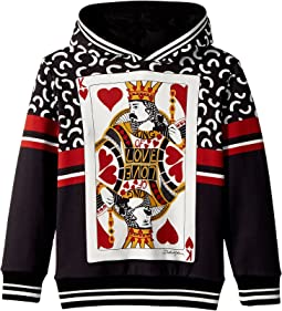 Dolce & Gabbana Kids - King of Hearts Hooded Sweatshirt (Little Kids)