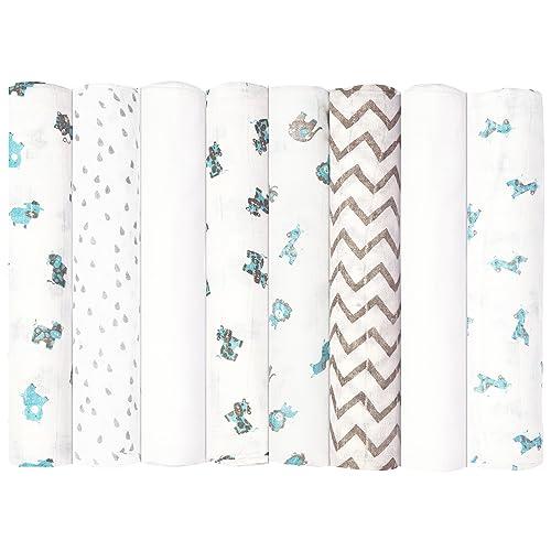 Canada/'s #1 Baby Blanket Perlimpinpin Muslin Swaddle Blanket Pack of 3