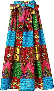 904bd4635c7d Shenbolen Women African Print Skirt Ankara Maxi Skirt Dashiki Skirt